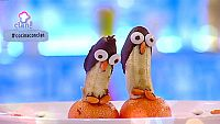 Postre - Pingüino de plátano y chocolate