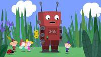 El robot de juguete