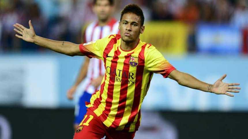 Primer gol oficial de Neymar con el Barça (1-1)