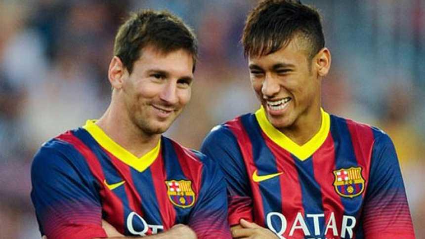 Neymar y Messi podrían estar en el once inicial ante el Atlético