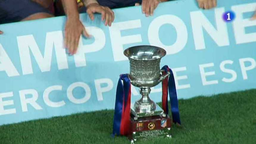 Fútbol - Supercopa de España 2013 - Partido de vuelta: F.C. Barcelona - At. Madrid