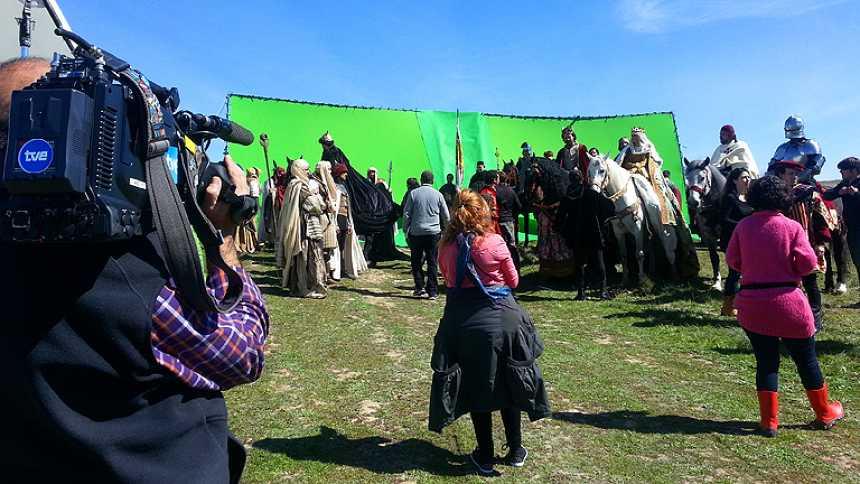 Isabel - El equipo de 'Isabel' reproduce 'La rendición de Granada'