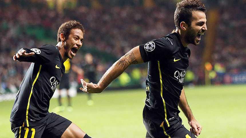 Neymar baila y Cesc remata