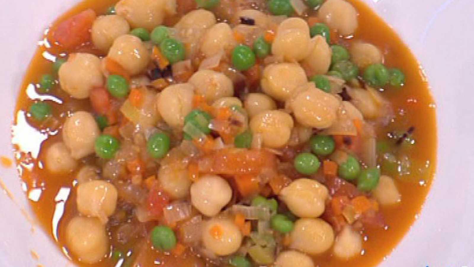 Saber cocinar garbanzos a la paisana con oreja crujiente for Cocinar garbanzos