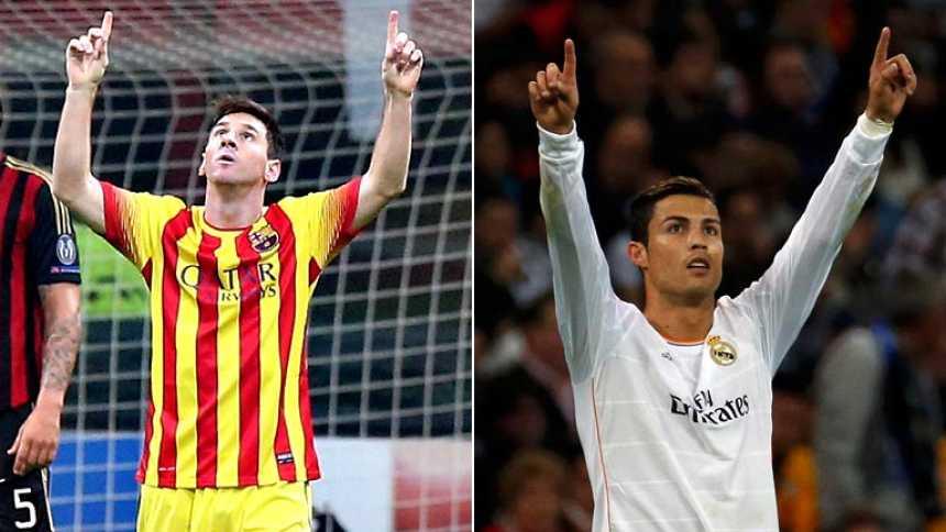 Messi y Cristiano llegan goleando al clásico