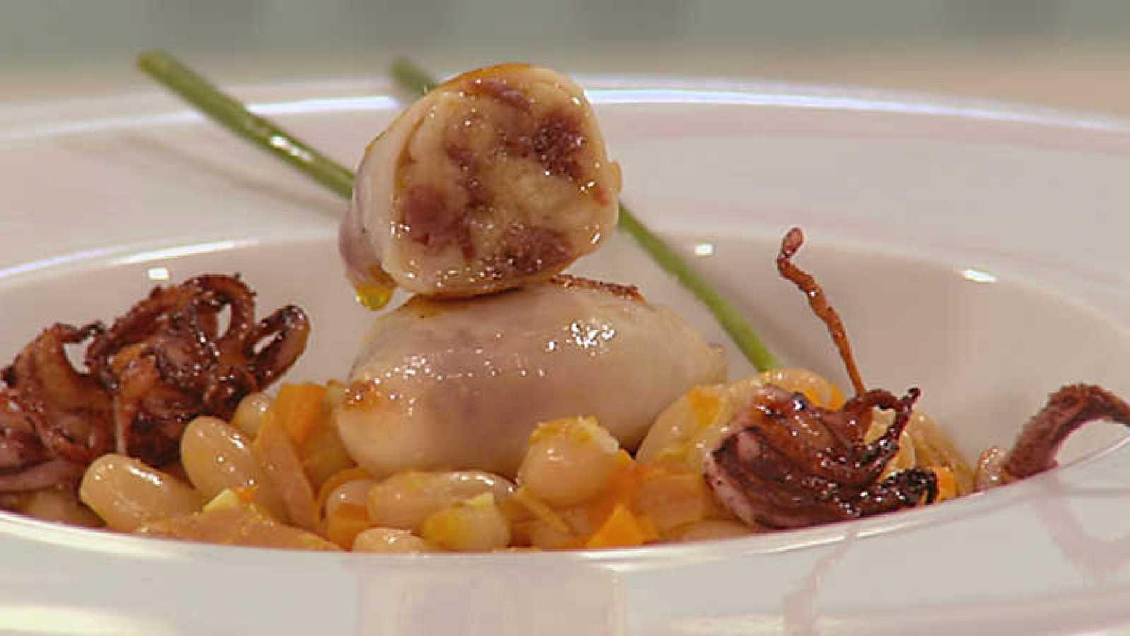 Cocina con sergio chipirones con alubias - Cocina con sergio pepa ...