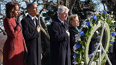 Obama y los Clinton honran a Kennedy