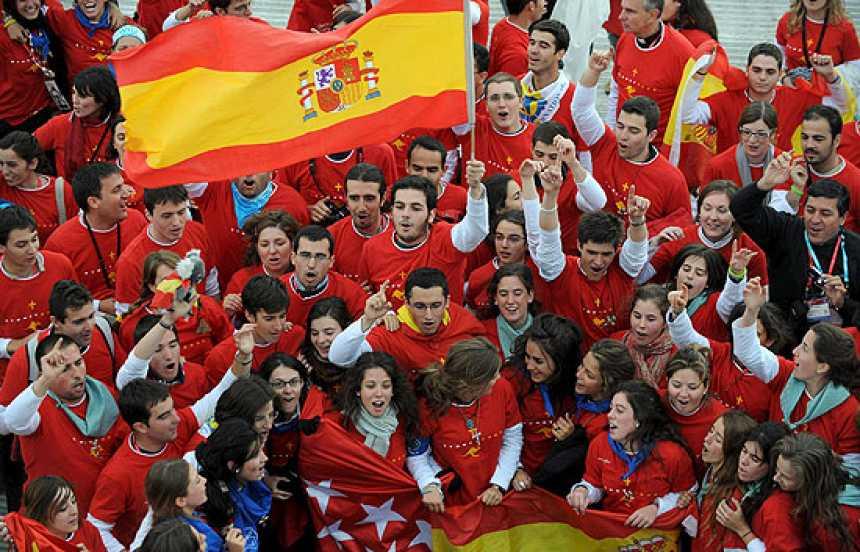El Papa, con los jóvenes en Madrid en 2011