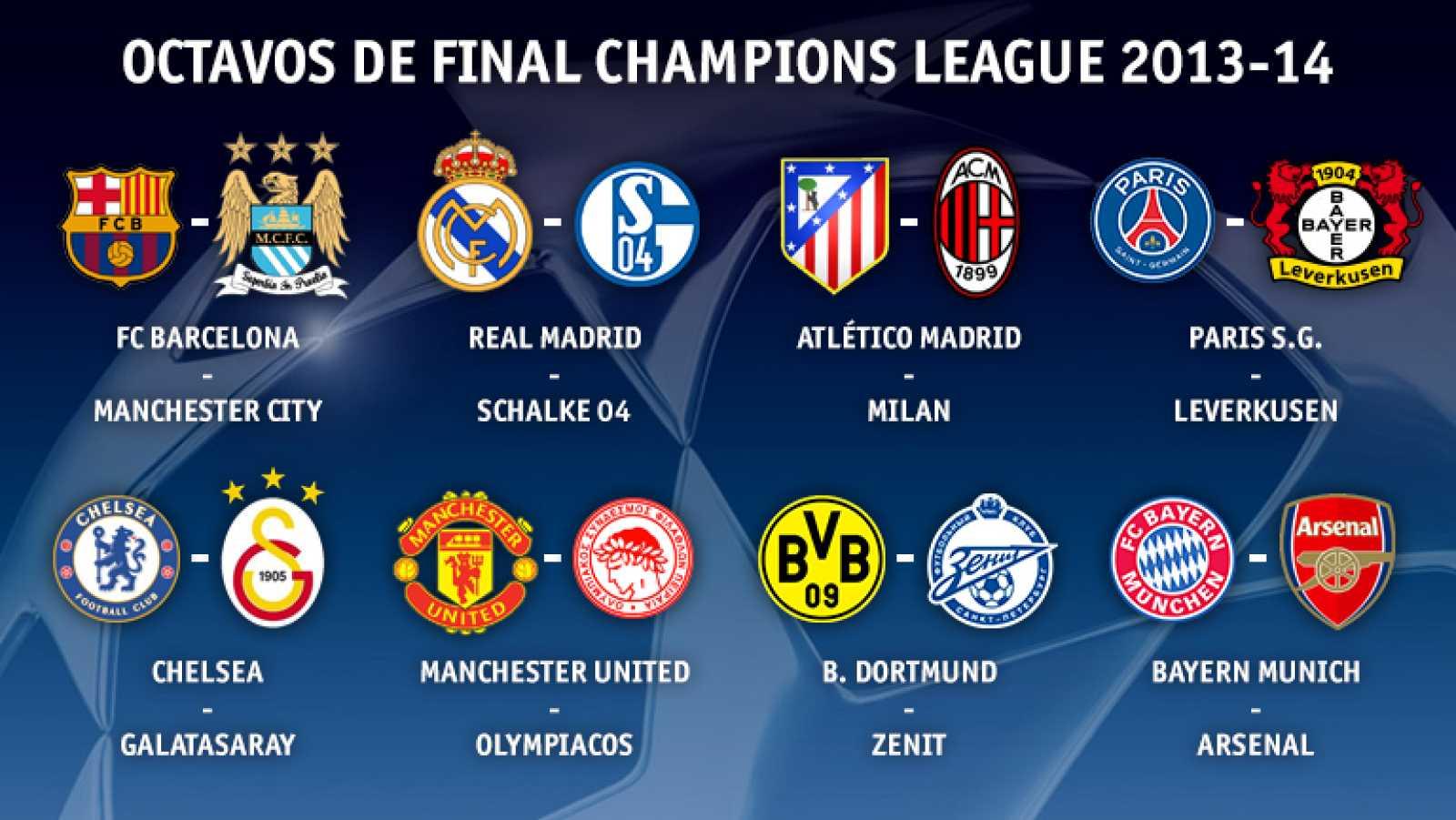 Barça, Madrid y Atlético ya tienen rivales en octavos de la ...
