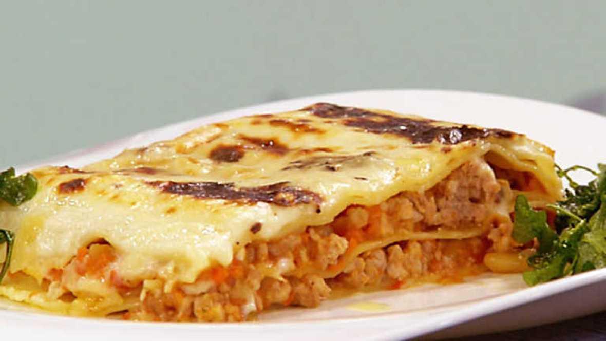 Rtve Recetas De Cocina De Sergio | Cocina Con Sergio Lasana De Cerdo A La Crema De Queso Rtve Es