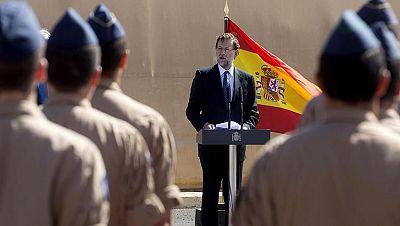 Visita sorpresa de Rajoy a los militares españoles destacados en Yibuti en la misión contra la piratería