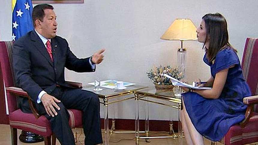 Entrevista en exclusiva de Hugo Chávez a TVE