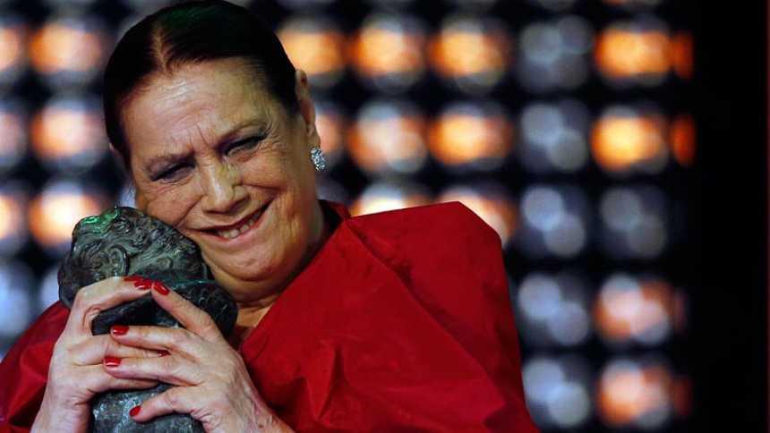 """Terele Pávez recibe su primer Goya: mejor actriz de reparto por """"Las Brujas de Zugarramurdi"""""""