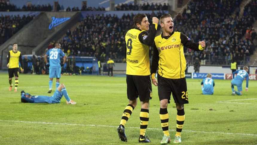 El Dortmund se merienda al Zenit en Rusia (2-4)