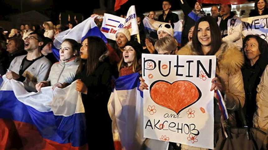 """Los crimeos pasan de Ucrania a Rusia en dos días: """"Todo el mundo está feliz"""""""
