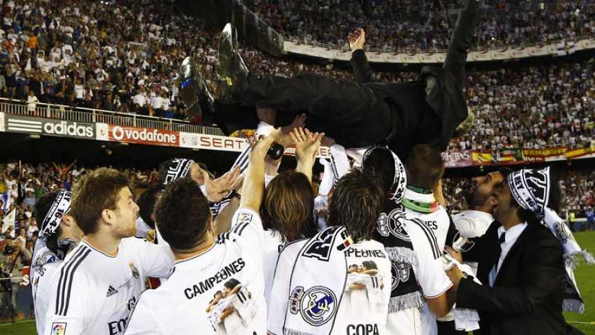 El Madrid celebra la Copa del Rey en Mestalla