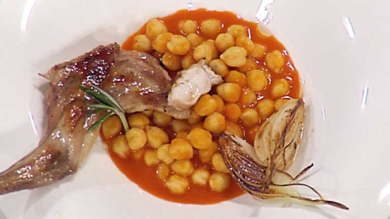 Cocina con sergio garbanzos picantes con conejo - Cocina con sergio pepa ...