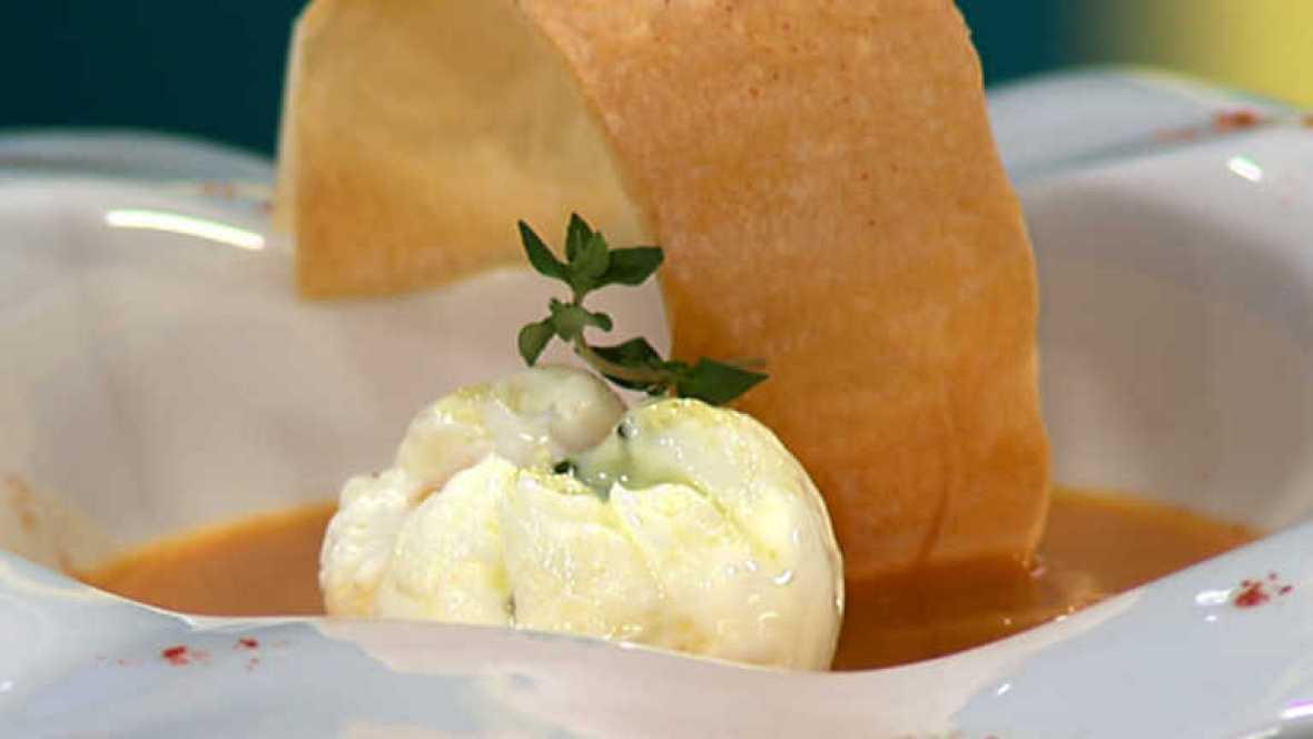 Www Rtve Cocina Con Sergio Es | Cocina Con Sergio Crema Castellana Con Huevo Escalfado Y Jamon