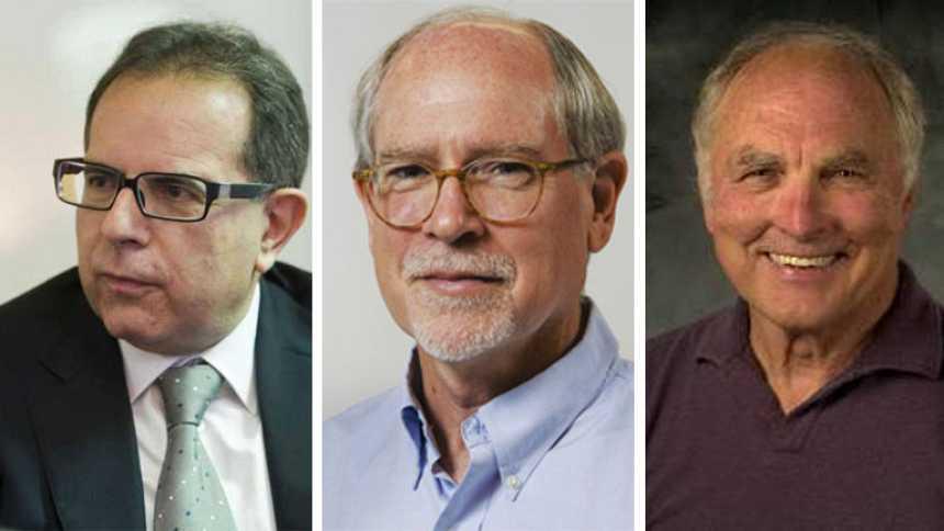 Los químicos Avelino Corma, Mark E. Davis y Galen D. Stucky, Príncipe de Asturias de Ciencia