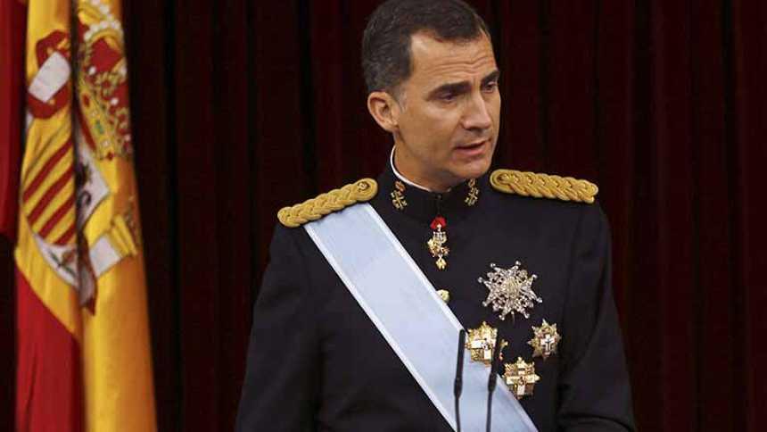 """El rey Felipe VI ofrece una """"monarquía renovada para un tiempo nuevo"""""""