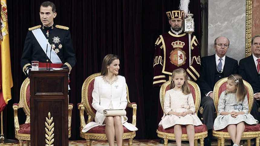 Discurso íntegro del rey Felipe VI en la ceremonia de proclamación ante las Cortes
