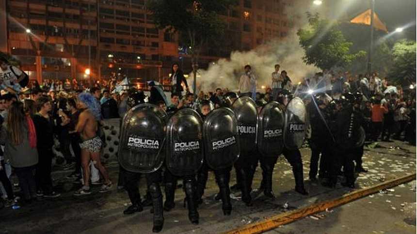 Violentos disturbios en Argentina tras la derrota en el Mundial