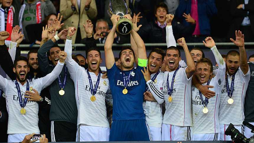 Así festejó la Supercopa el Madrid