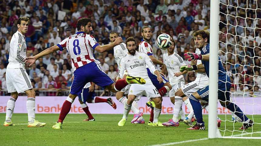 Ligera ventaja del Atlético sobre el Real Madrid en la ida de la Supercopa