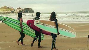 Surf en el Festival de Longboard de Salinas, en Candás