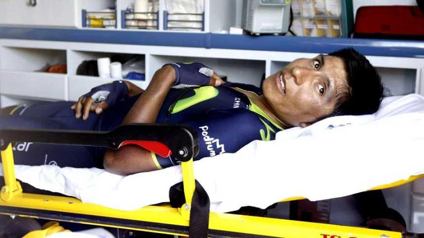 Nairo Quintana abandona la Vuelta tras una nueva caída en la undécima etapa