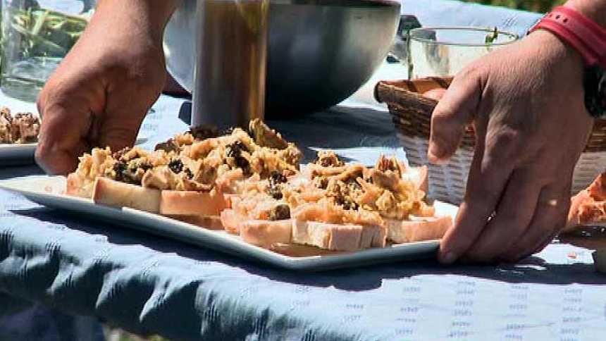 Receta de revuelto de colmenillas e isones con ajetes tiernos en tostada