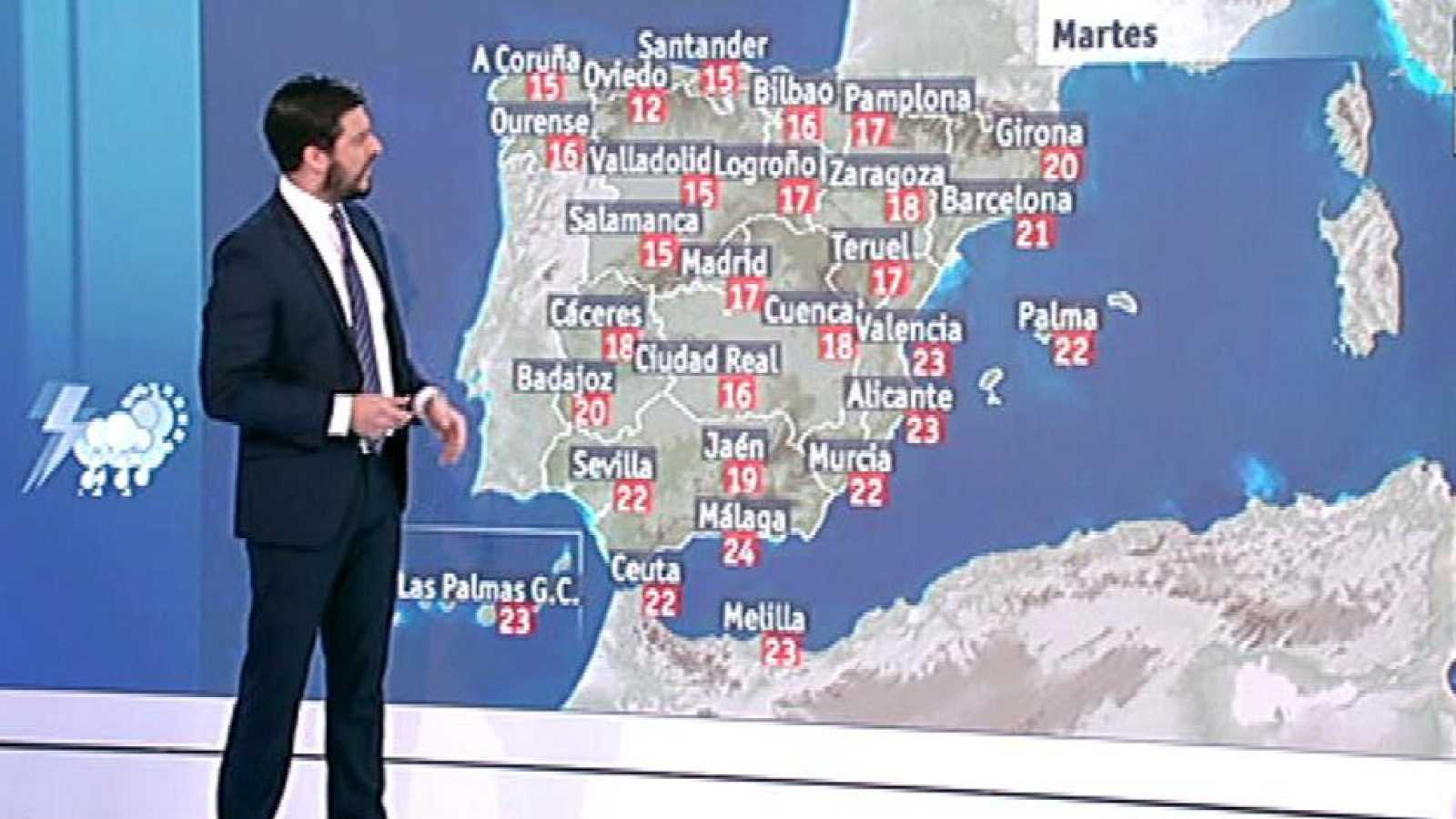 Tiempo variable, con lluvias ocasionales y temperaturas agradables