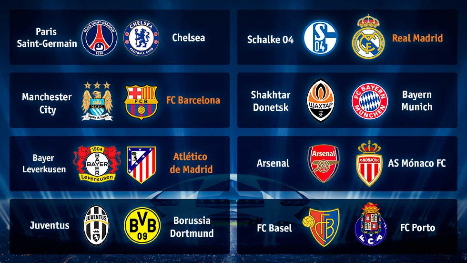 Madrid, Barça y Atlético ya conocen a sus rivales de Champions