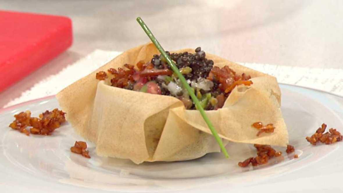 Cocina con sergio lentejas beluga en ensalada - Cocina con sergio pepa ...