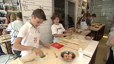 MasterChef Junior 2 - Clase de pasta y pizza
