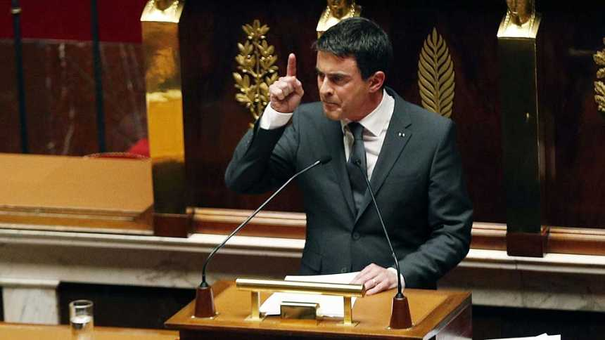 """Valls declara la """"guerra"""" a los yihadistas y anuncia medidas antiterroristas """"excepcionales"""""""