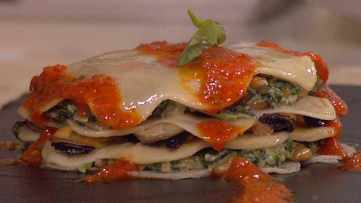 Cocina con sergio lasa a de mejillones y espinacas - Cocina con sergio pepa ...