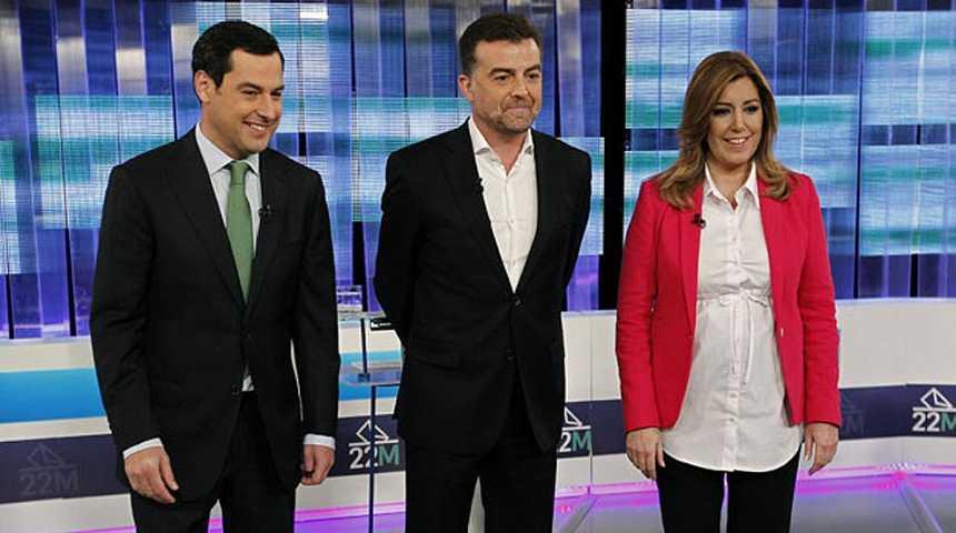 Díaz, Moreno y Maíllo se echan en cara la corrupción y plantean el paro como principal reto