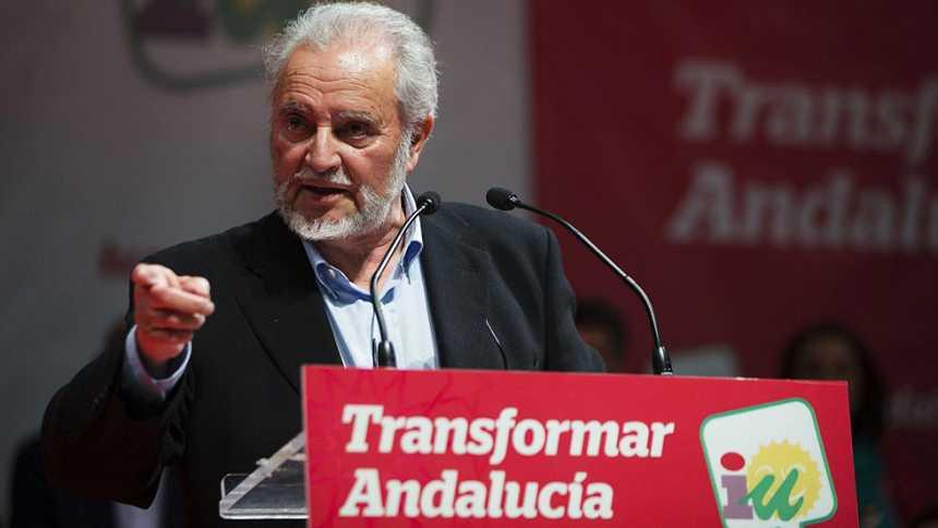 """Anguita pide el voto para IU, que """"tiene que tender la mano"""" en Andalucía a partidos como Podemos"""