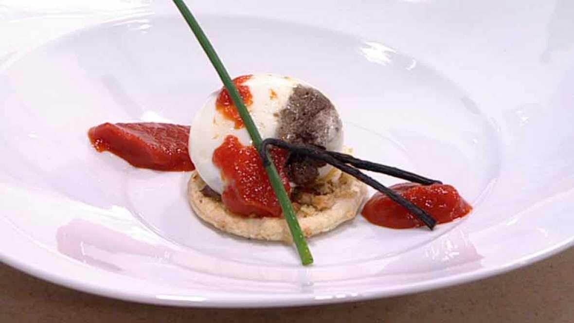 Cocina Con Sergio Pepa | Cocina Con Sergio Huevo Escalfado Con Morcilla Y Mermelada De
