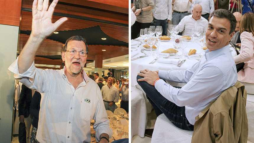 Rajoy y Sánchez hacen doblete en el quinto día de campaña