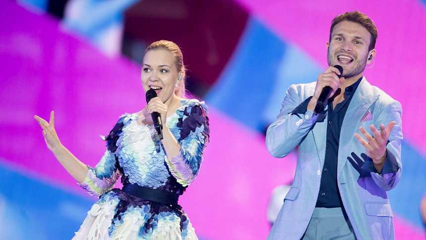 Eurovisión 2015 - Semifinal 2- Lituania Monika Linkyté y Vaidas Baumila cantan 'This Time'