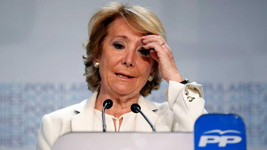 """Aguirre: """"Defenderé los valores del PP, como alcaldesa o en la oposición"""""""
