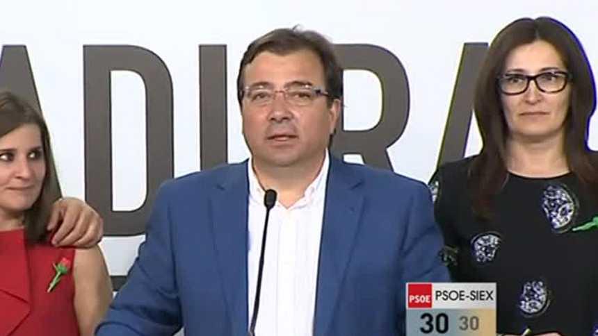El PSOE recupera Extremadura y podría gobernar en solitario