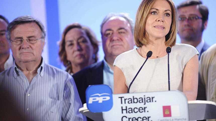 """Elecciones autonómicas 2015 - Cospedal: """"Los ciudadanos han depositado su confianza mayoritaria en el PP"""""""
