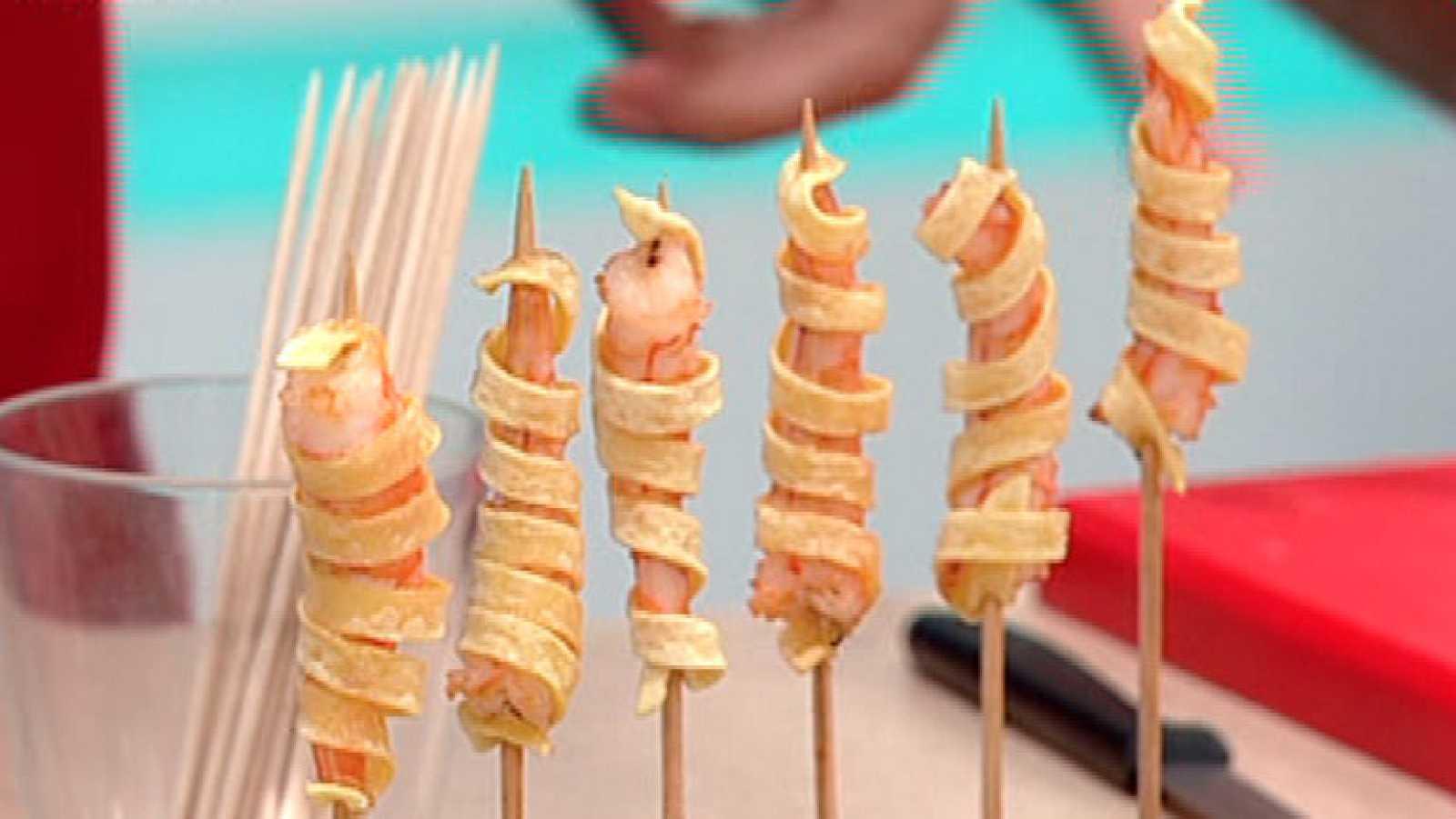 La cocina de ED- Langostino con pasta y piruletas de langostino ...