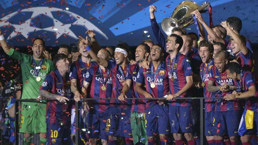 El Barça levanta su quinta Champions al cielo de Berlín