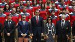 El rey Felipe VI recibe a los deportistas españoles que competirán en Bakú