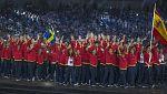 La delegación española desfila en la inauguración de los Juegos de Bakú 2015