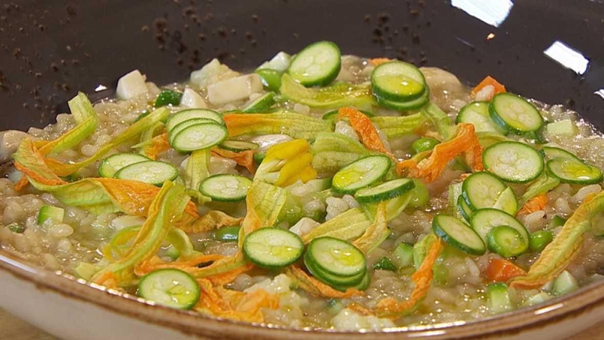 Recetas De Cocina De Verduras | De Arroz Cremoso De Verduras Y Flores De Calabacin